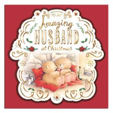 Amazing Husband Forever Friends Christmas Card