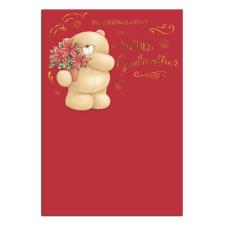 Loveliest Godmother Forever Friends Christmas Card