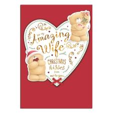 Amazing Wife Forever Friends Christmas Card