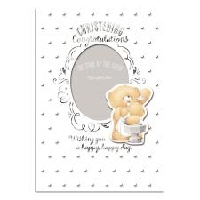 Congratulations Christening Day Forever Friends Keepsake Photo Card
