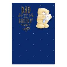 Bear with Dad Mug Forever Friends Birthday Card
