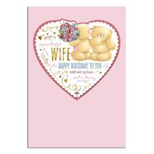 Wonderful Wife Large Forever Friends Birthday Card
