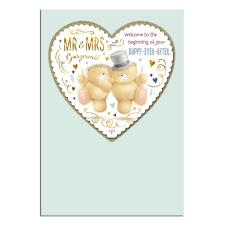 Mr an Mrs Gorgeous Forever Friends Wedding Day Card