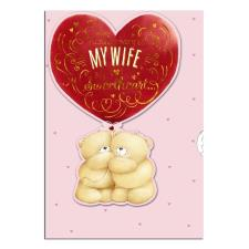 Wife Anniversary Floating Bears Forever Friends Card