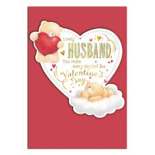 Lovely Husband Forever Friends Valentines Day Card