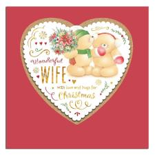 Wonderful Wife Square Forever Friends Christmas Card