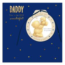 Daddy 1st Fathers Day Forever Friends Card With Photo Frame