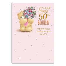 Happy 50th Forever Friend Birthday Card