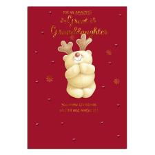 Great Granddaughter Forever Friends Christmas Card