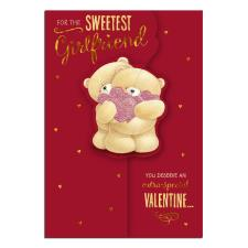 Sweetest Girlfriend Forever Friends Valentines Day Card