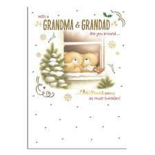 Grandma & Grandad Forever Friends Christmas Card