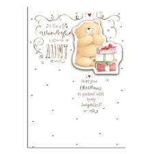 Wonderful Aunt Forever Friends Christmas Card