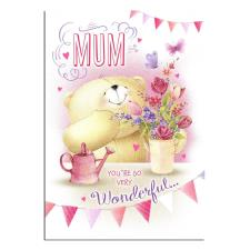 Mum 3D Holographic Forever Friends Birthday Card