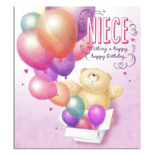 Niece 3D Holographic Forever Friends Birthday Card