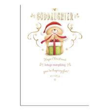 Goddaughter Forever Friends Christmas Card