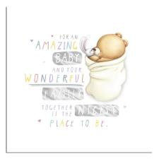 Amazing New Baby Forever Friends Card
