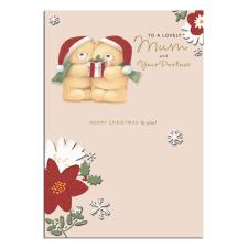 Lovely Mum & Partner Forever Friends Christmas Card