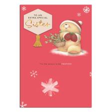 Extra Special Sister Forever Friends Christmas Card