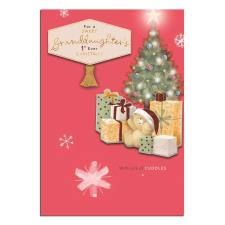 Granddaughter's 1st Christmas Forever Friends Christmas Card