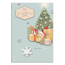 Grandson's 1st Christmas Forever Friends Christmas Card