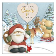 Son's 1st Christmas Forever Friends Keepsake Christmas Card