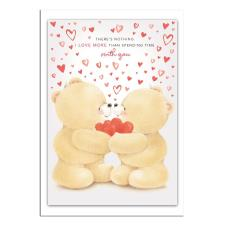 3D Holographic Hearts Forever Friends Valentine's Day Card
