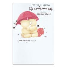 Grandparents Anniversary Forever Friends Card