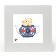 Union Jack Teapot Forever Friends LIMITED EDITION Print