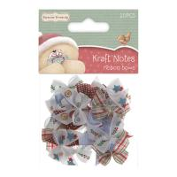 Forever Friends Ribbon Bows Christmas Kraft Notes