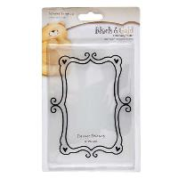 Heart Frame Black & Gold Embossing Folder