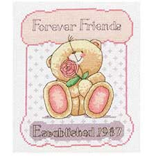 25th Anniversary Forever Friends Cross Stitch Kit