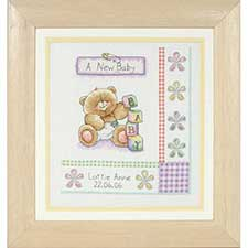 Birth Record Forever Friends Cross Stitch Kit