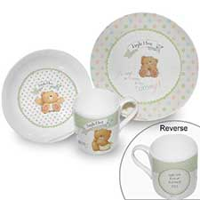 Personalised Forever Friends Baby Breakfast Set