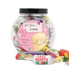 Personalised Forever Friends Pink Craft 250g Sweet Jar