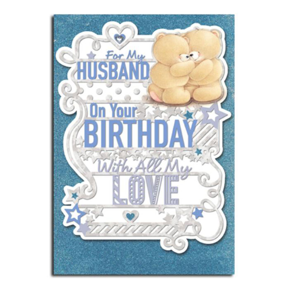 For My Husband Forever Friends Birthday Card – Birthday Card for My Husband