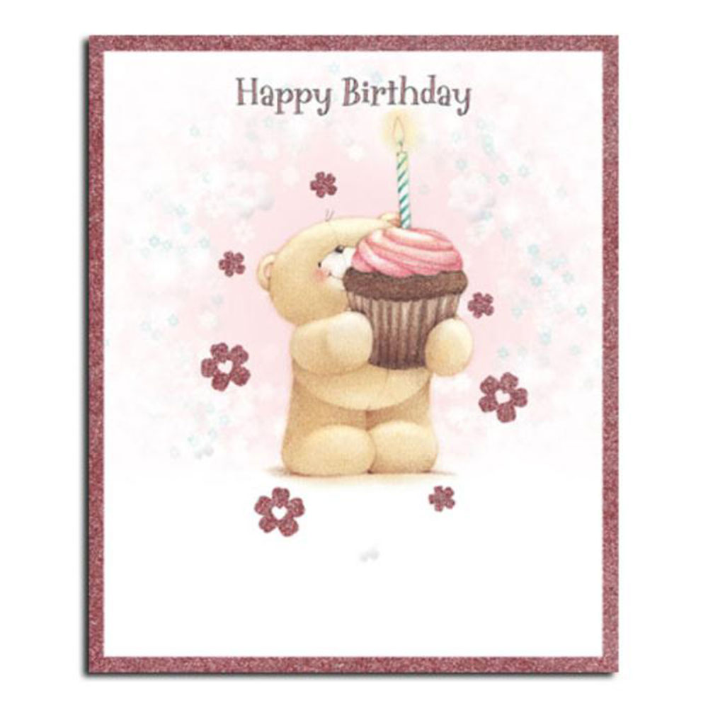 happy birthday cupcake forever friends card forever