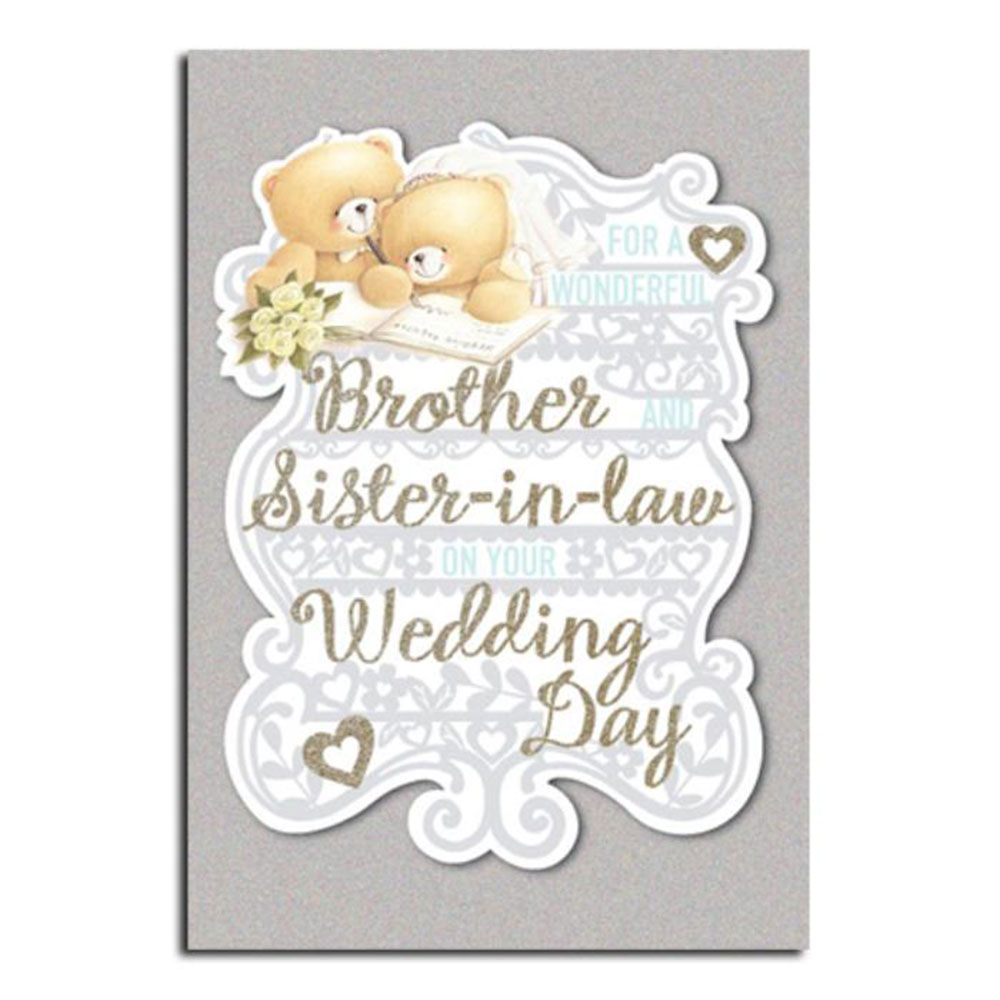 Brother Sister In Law Wedding Day Forever Friends Card