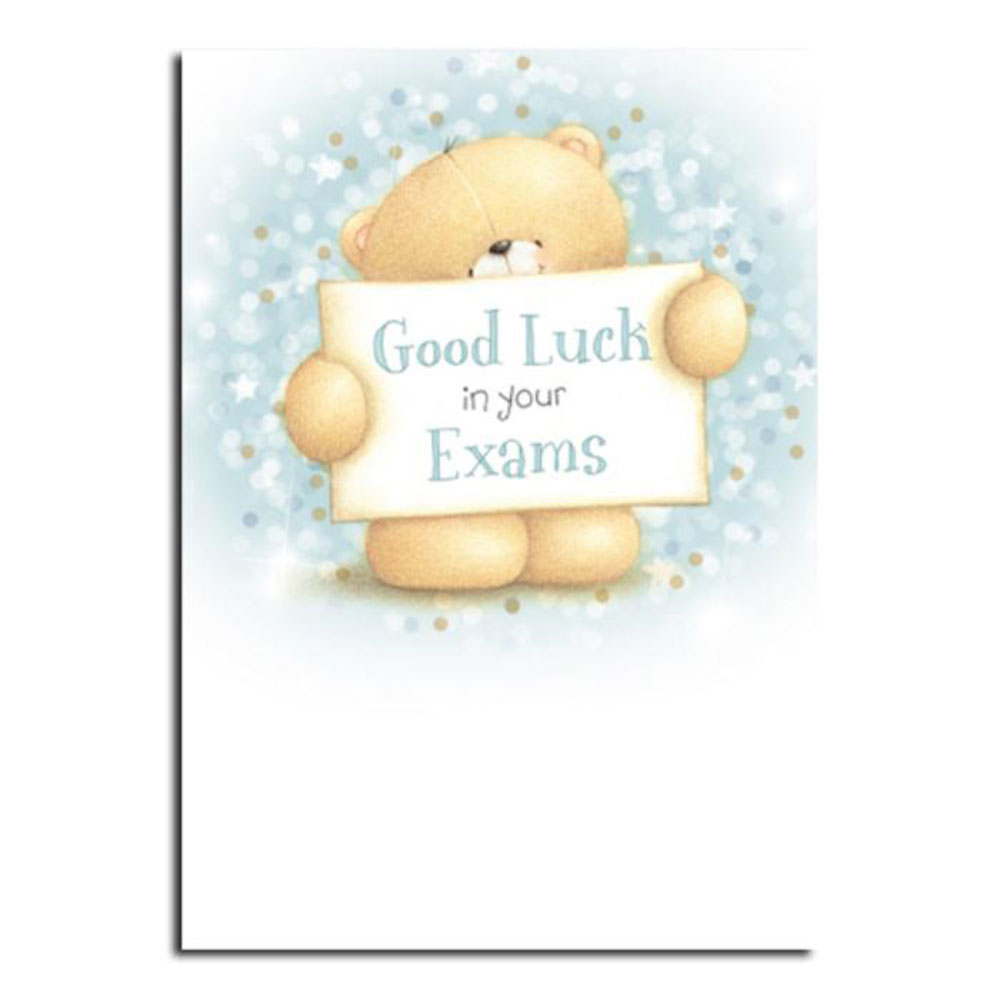 Good Luck In Exams Forever Friends Card  Exam Best Wishes Cards