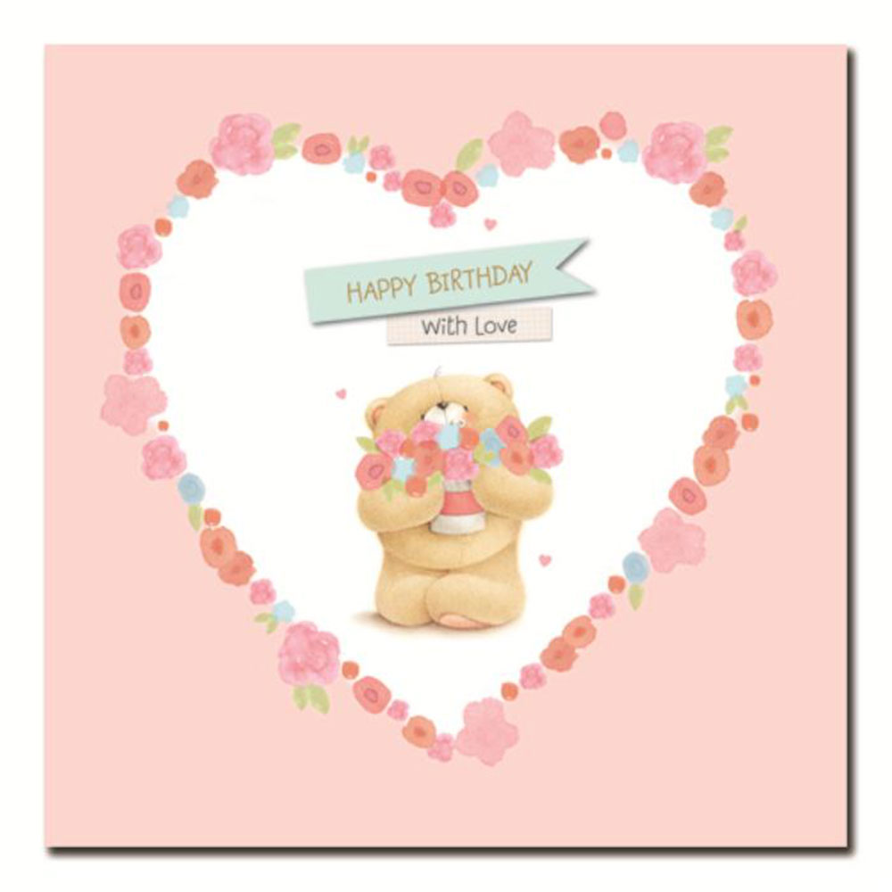 Birthday N Love Cards: Happy Birthday With Love Forever Friends Card