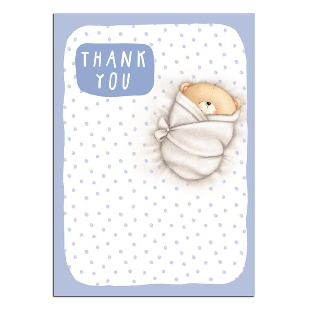 Baby Boy Gift Thank You Cards : Forever friends baby boy thank you cards pack of