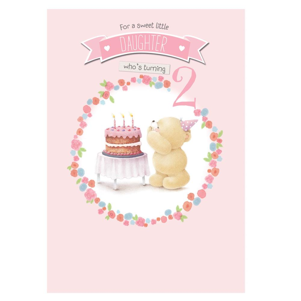 Daughter 2nd Birthday Forever Friends Card