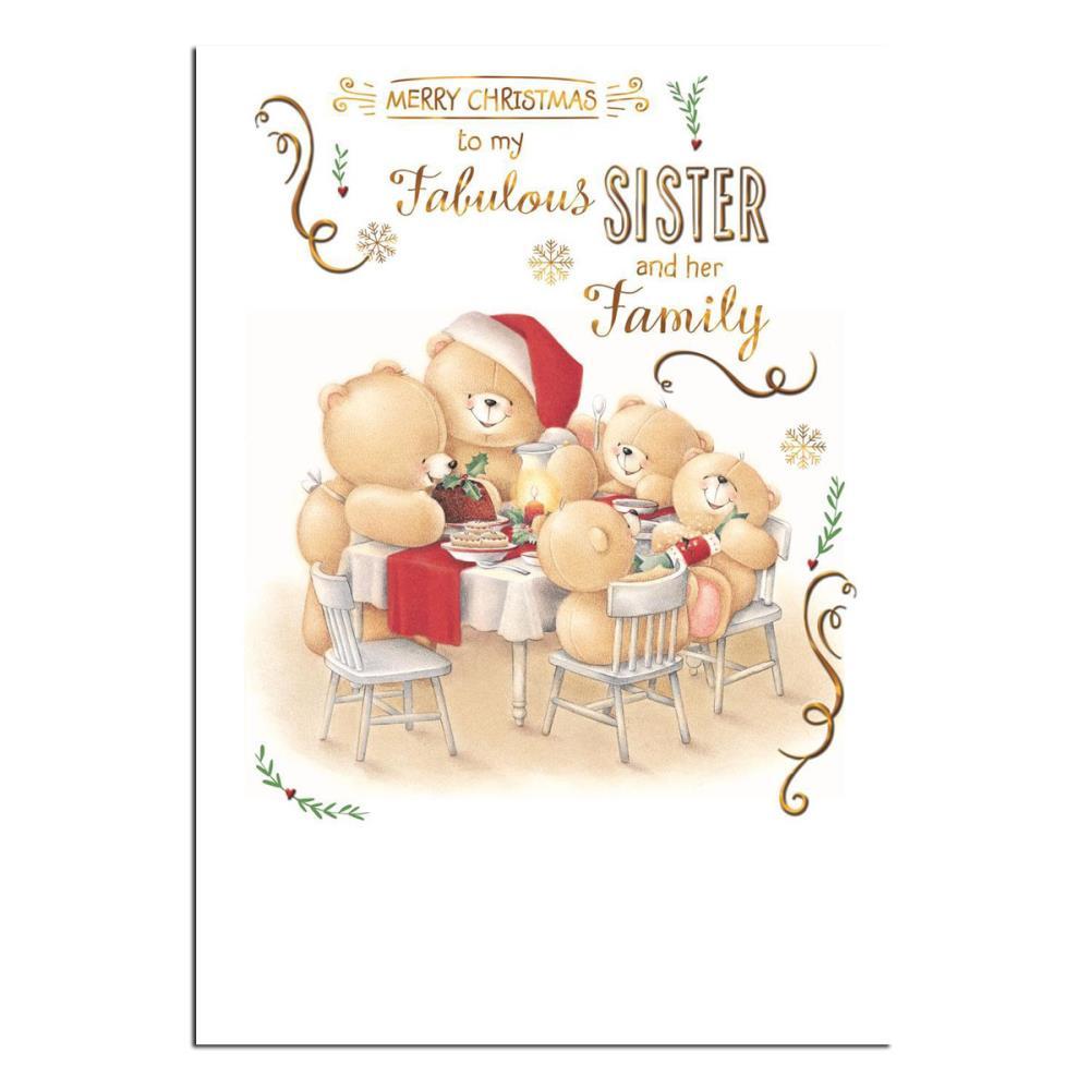 Sister Family Forever Friends Christmas Card Forever Friends