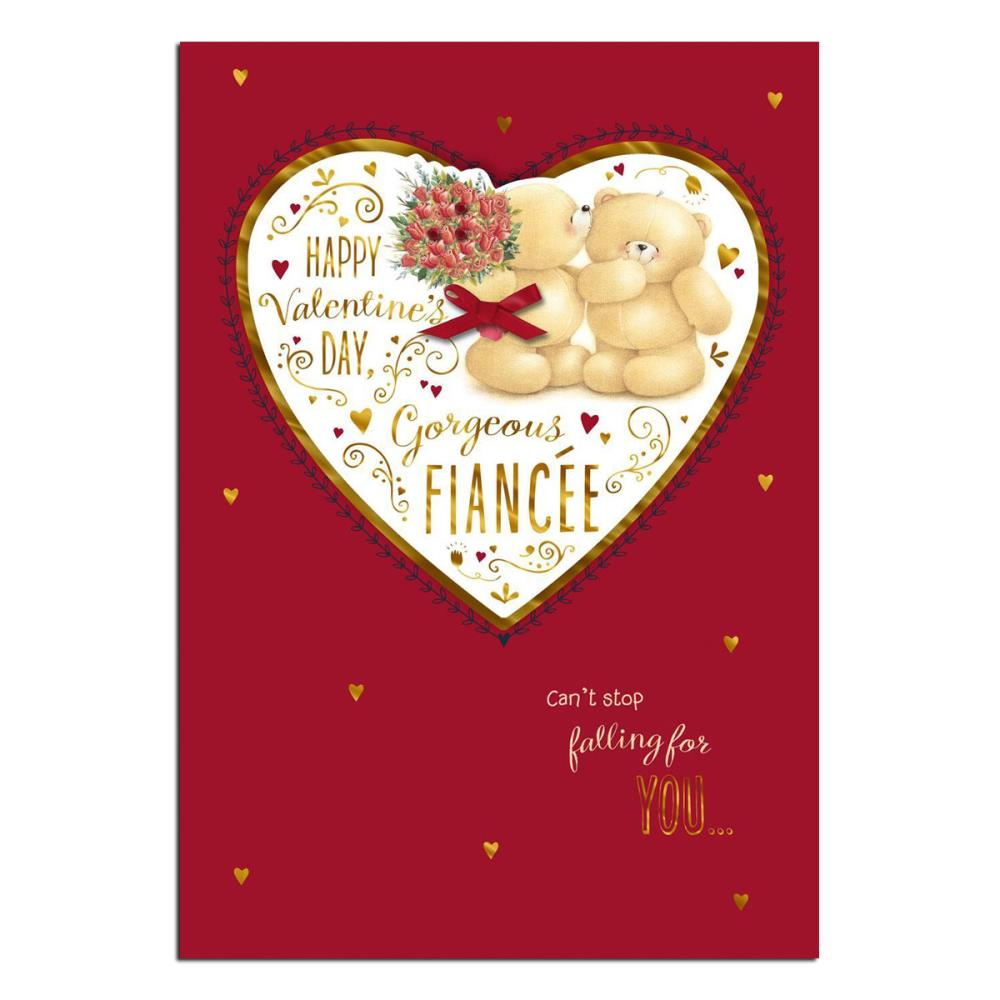 gorgeous fiancee forever friends valentines day card