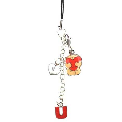 Luv U Forever Friends Mobile Phone Charm
