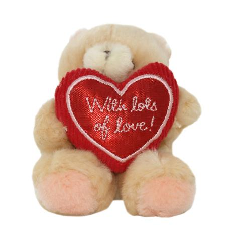 "4"" With Lots of Love Heart Forever Friends Bear"