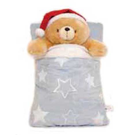 "10"" Bedtime with Christmas Pillow Forever Friends Bear"