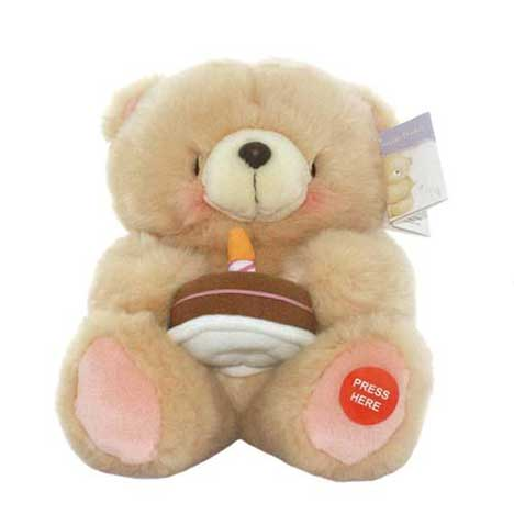 "10"" With Light Up Cake Forever Friends Bear"