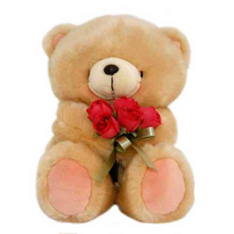 "10"" With Rose Bouquet Forever Friends Bear"