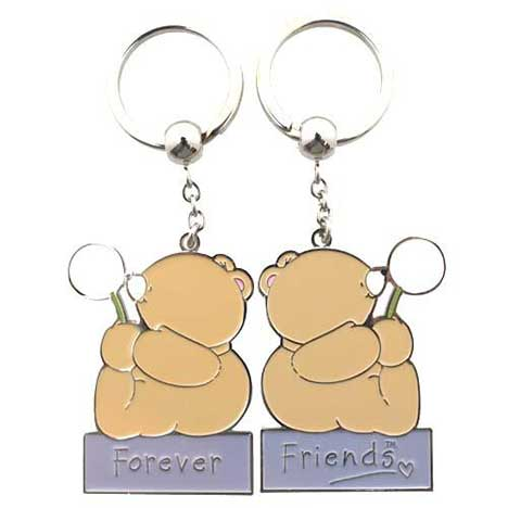2 Piece Friendship Forever Friends Keyring