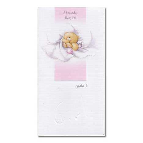 Baby Girl Forever Friends Card